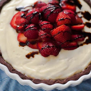 Strawberry Balsamic Custard Tart