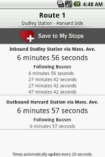 CatchTheBus - MBTA - screenshot thumbnail