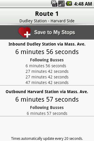 CatchTheBus - MBTA - screenshot