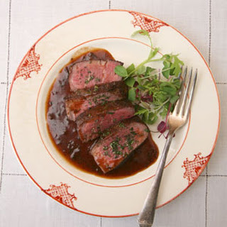 Filet Mignon with Bordelaise Sauce.