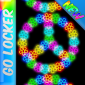 Neon Flower Peace GO LOCKER