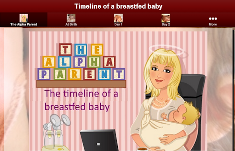 Timeline of a breastfed baby- screenshot thumbnail