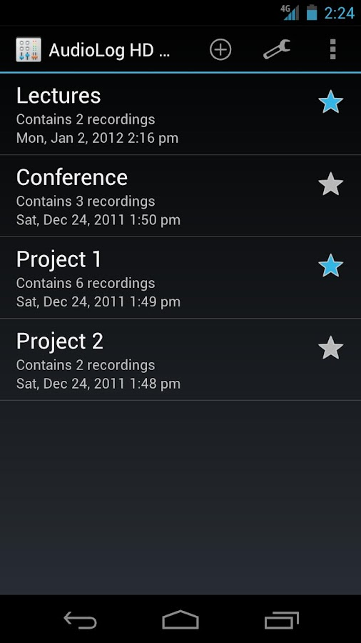 AudioLog HD Sound Recorder - screenshot