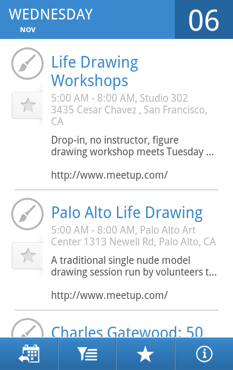 SF Bay Area Events - screenshot