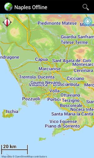 Offline Map Naples Italy