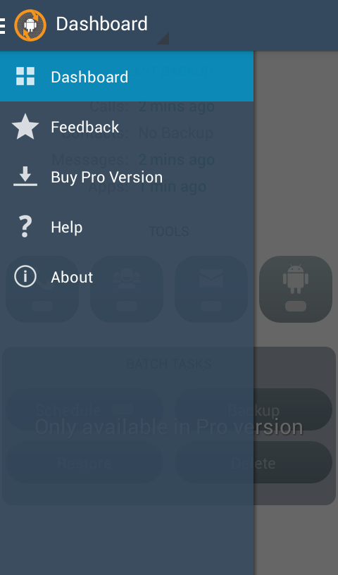 Droid Backup- screenshot