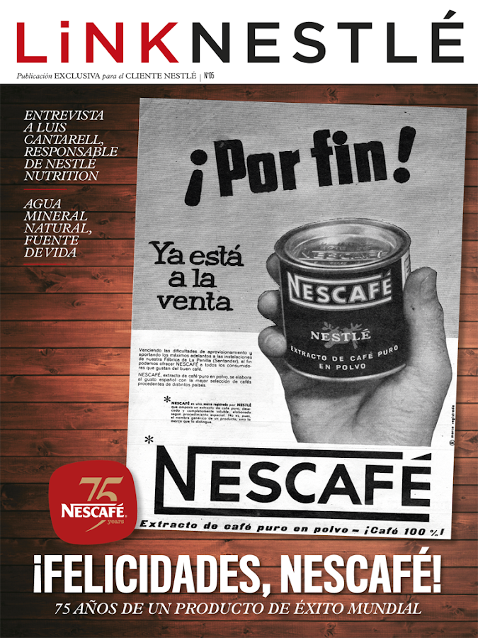 Link Nestlé- screenshot