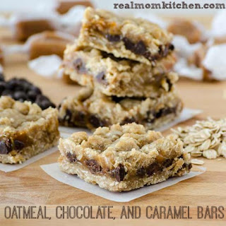 Oatmeal Chocolate and Caramel Bars