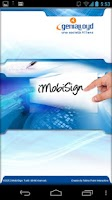 Screenshot of E-Signature with iMobiSign