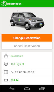 Zipcar- screenshot thumbnail