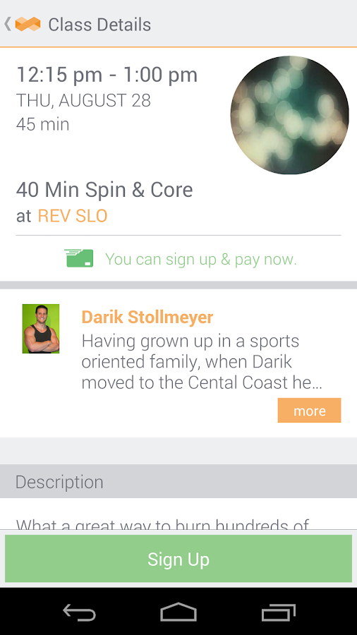 MINDBODY Connect - screenshot