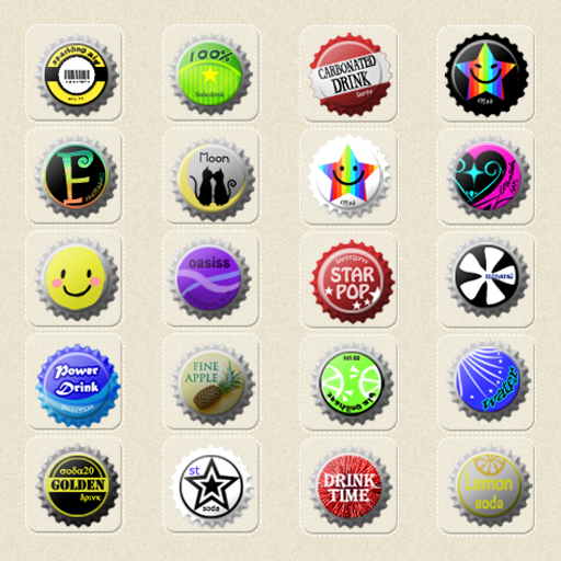 CUKI Theme Beer Cap Icon LOGO-APP點子