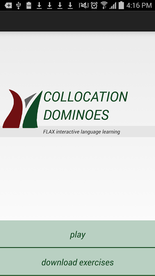 FLAX Collocation Dominoes- screenshot