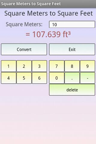 Square meters to square feet android apps on google play for 5000 square feet to meters