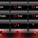 Dialer Black Red Gloss Theme icon