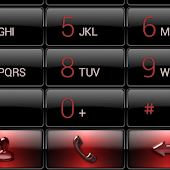 exDialer Black Red Gloss Theme