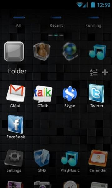 Next Style Go Launcher Theme - screenshot
