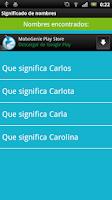 Screenshot of Significado de los nombres