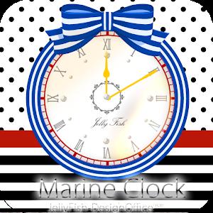 个人化のマリンカラーリボンアラーム付き時計ウィジェット【FREE】 LOGO-記事Game