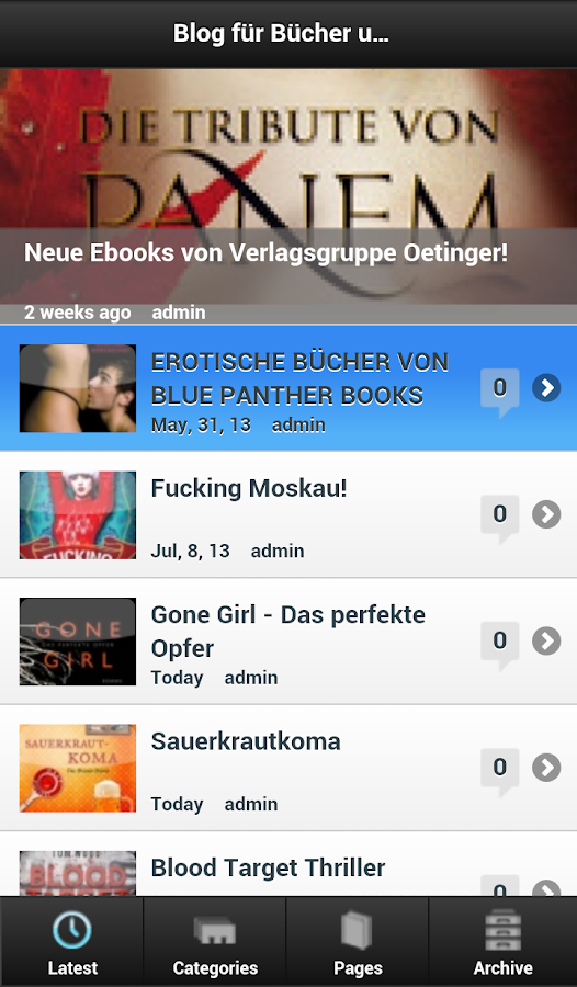 Bücher und Ebooks Blog - screenshot