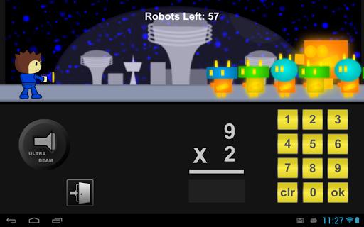 Robot Math Defense Game