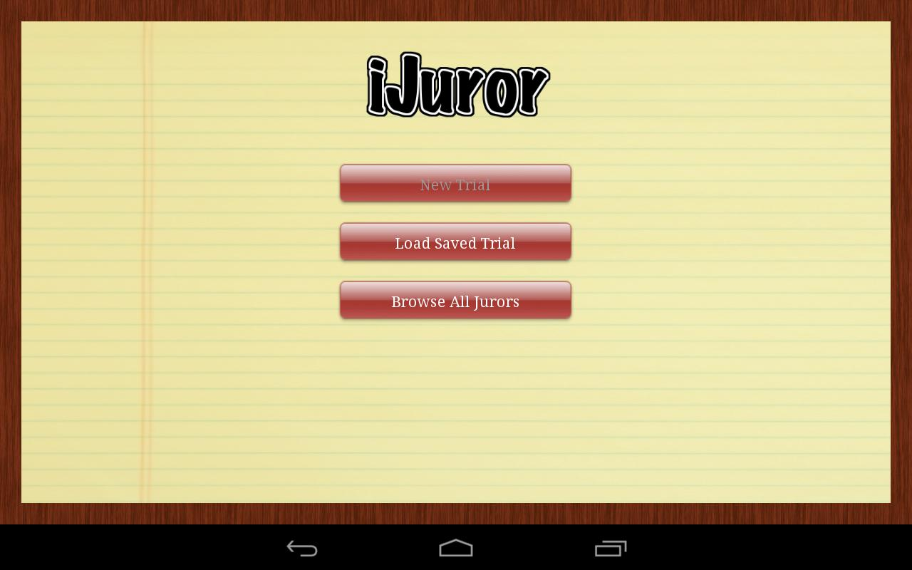 iJuror - screenshot