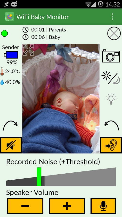 WiFi Baby Monitor- screenshot
