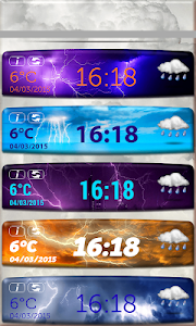 Storm Weather Clock Widget screenshot 4