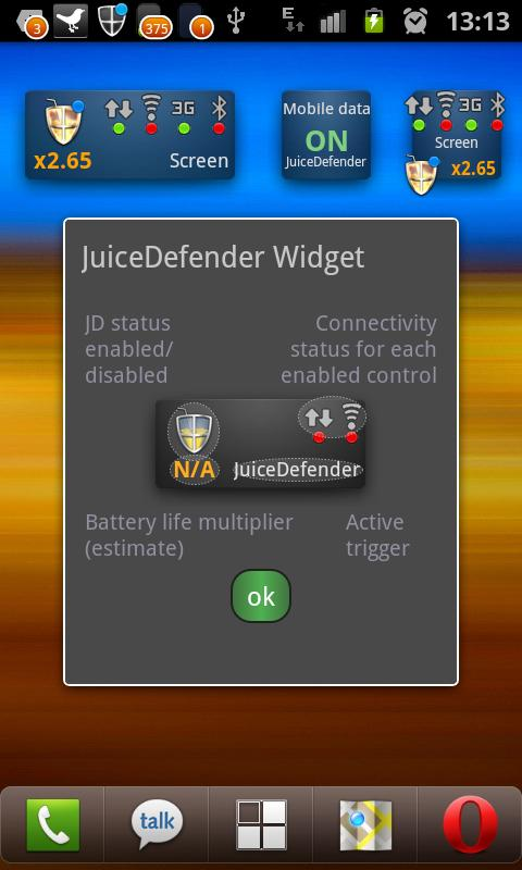 JuiceDefender - battery saver – Screenshot