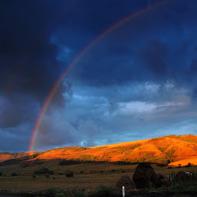 Rainbow at sunset by Teglas Marin - Landscapes Sunsets & Sunrises