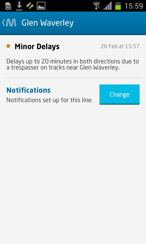 metroNotify - screenshot