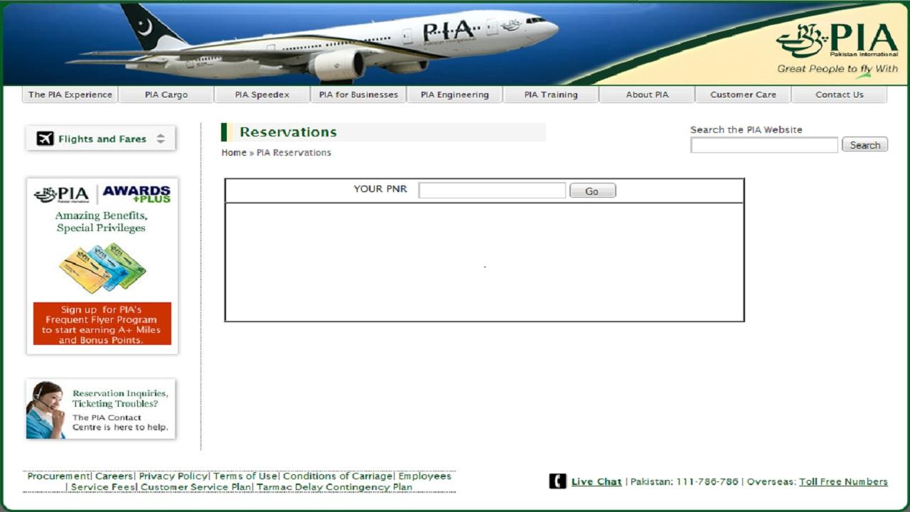 PIA Schedule- screenshot