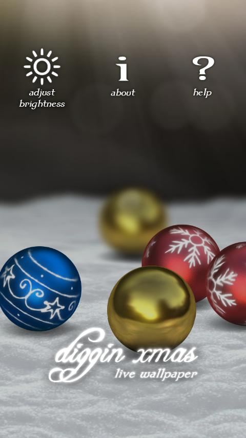 Diggin Xmas live wallpaper - screenshot