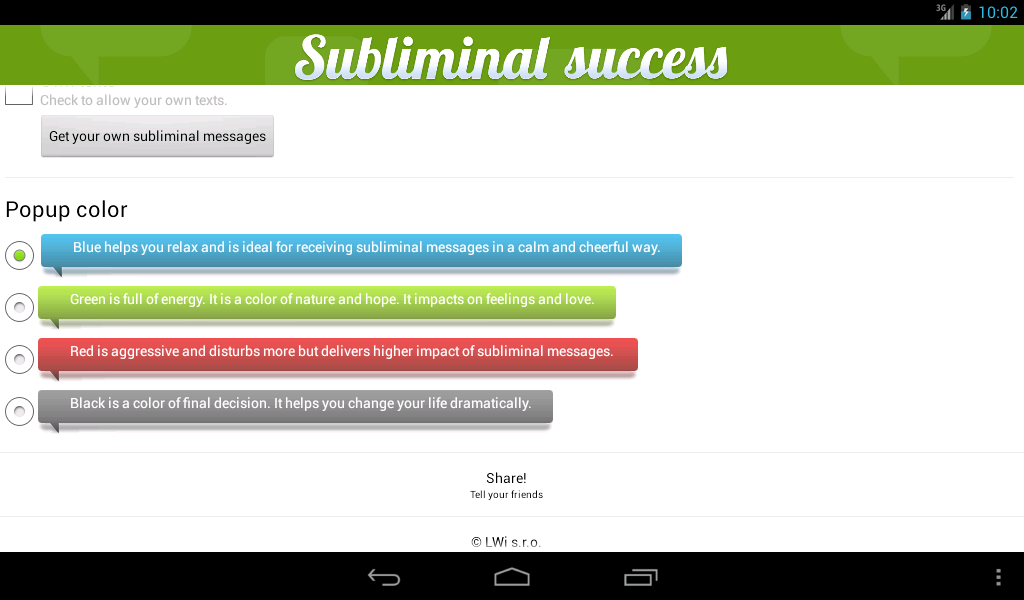Subliminal Success - screenshot