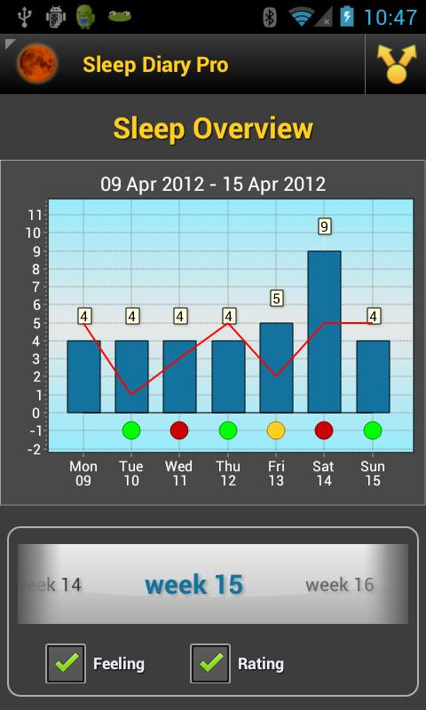 Sleep Diary Lite- screenshot