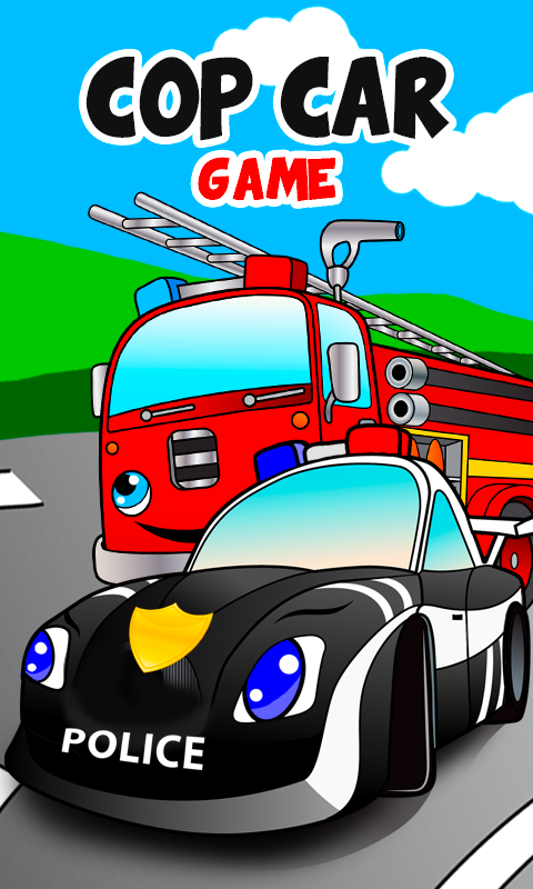 cop car games for little kids screenshot