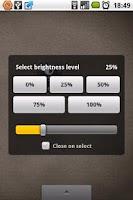 Screenshot of Brightness Level