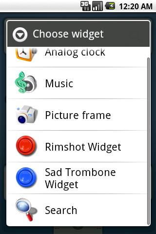 Rimshot Widget- screenshot