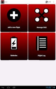 UAV flight log - screenshot thumbnail