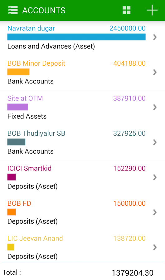iWallet- screenshot