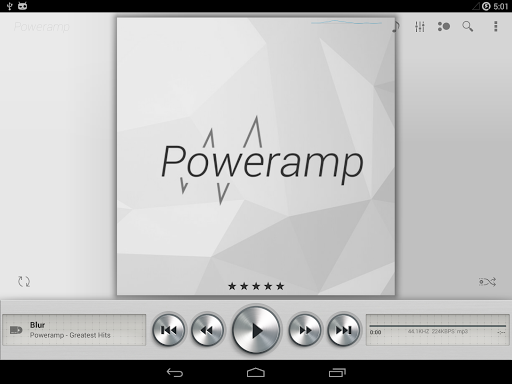 Skin for Poweramp Light Metall  screenshots 5
