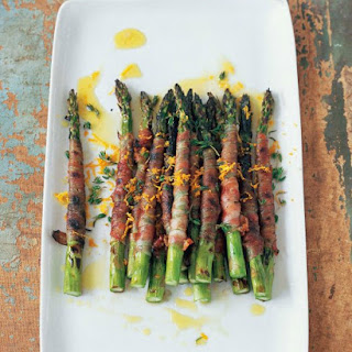 Asparagus Wrapped in Pancetta with Citronette.