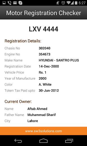 Motor Registration Checker  screenshots 6