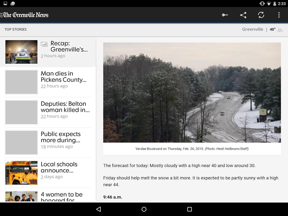 The Greenville News- screenshot