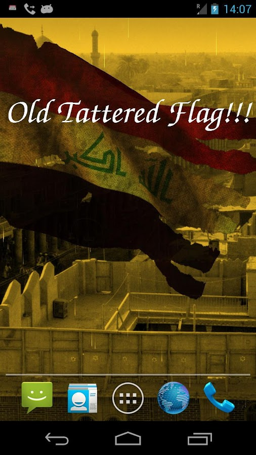 3D Iraq Flag Live Wallpaper - screenshot