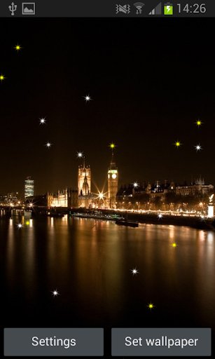 Glittering City Live Wallpaper