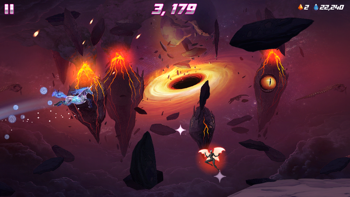 Screenshots of Robot Unicorn Attack 2 for iPhone