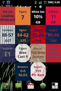 MLB Magic Number Widget - screenshot thumbnail