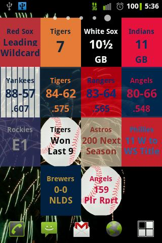 MLB Magic Number Widget - screenshot