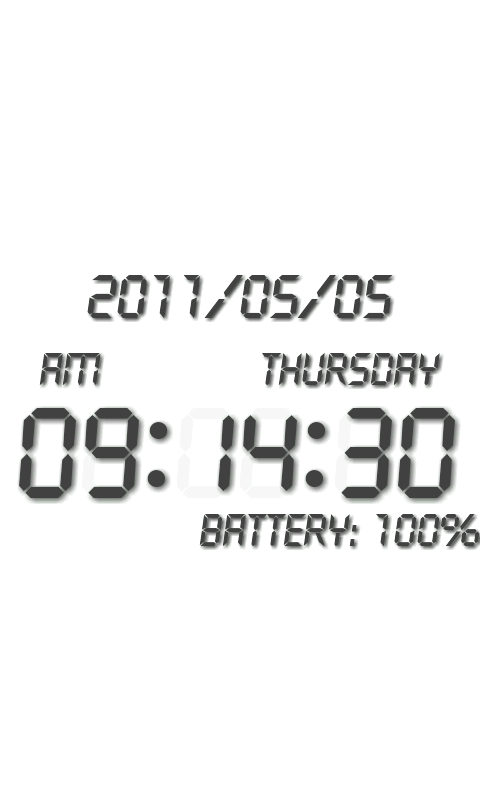 Battery Clock β- screenshot
